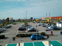 FROM THE IKEA PARKING (Bruno Viganò) Tags: ikea milano italia italy milan street road roadpic streetpic park parking cellphone cell wiko car