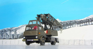 Dinky Toys Model No. 970 Jones Fleetmaster Cantilever Crane 1973 Restoration And Conversion To Military Style : Diorama Winter Scenery - 27 Of 36