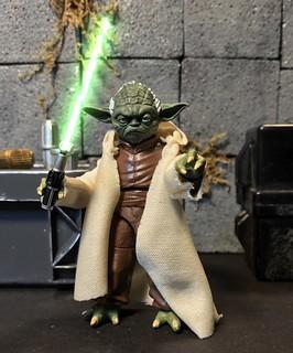 Master Yoda ready for battle