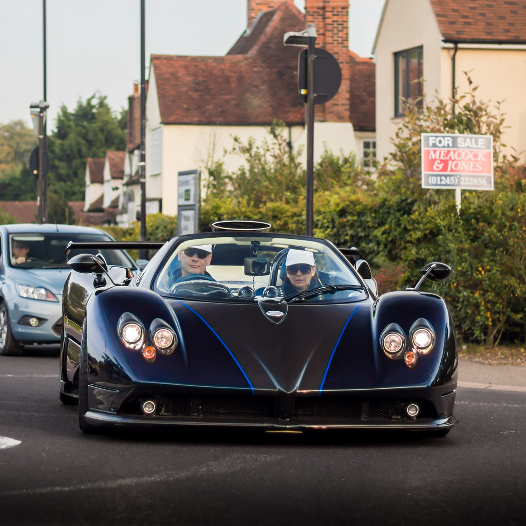 Pagani Zonda C12s Roadster: The World's Best Photos Of Blue And Pagani