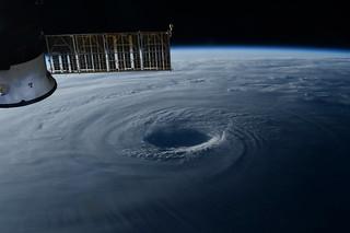 Typhoon Lan headed towards Japan as seen from our Cupola windows.