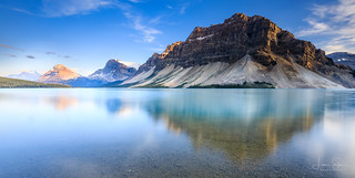 Bow Lake at Golden Hour