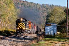 Smoke and Liberty (Wheelnrail) Tags: western new york pennsylvania train trains alco railroad diesel locomotive smoke rail road rails driftwood turn port allegheny liberty