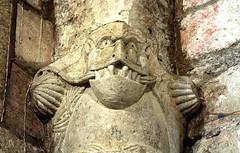 Meet Your Monster (YIP2) Tags: chapiteaux capitals church monster pillar column medieval stone art halloween facade agonac dordogne france saintmartin aquitaine perigord églisesaintmartindagonac