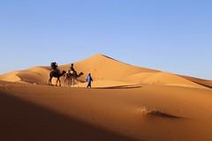 The Journey (Alex L'aventurier,) Tags: ergchebbi maroc morocco désert desert sand sable dunes camels chameaux ciel sky sahara bleu blue orange shadow ombre dromadaire