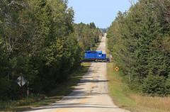 Sunday Extra (GLC 392) Tags: ilsx 1344 independent locomotive services els sunday extra road sd402 escanaba lake superior railroad railway train down mi michigan upper peninsula up north woods hermansville emd