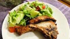 Air fryer cooking (Sandy Austin) Tags: panasoniclumixdmcfz40 sandyaustin massey westauckland auckland newzealand northisland food pork chop salad airoven airfryer