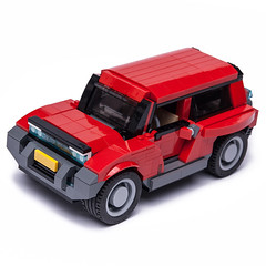 #ModelTeam RED SUV (KEEP_ON_BRICKING) Tags: lego creator model team suv red 4x4 custom design conceptcar car vehicle off road motile functional doors hood snot npu building techniques keeponbricking latlug afol fan legomoc legoworld youtube video moc