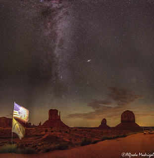 Monument Valley with Navajo Flags