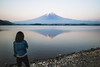 untitled (ian.latte) Tags: fujisan mount fuji lake kawaguchi spiritual icon holy mountain symbol japan water reflection morning tranquility silent mood soft girl view peaceful nature spectator outdoor travel tourist sightseeing 28mm leicam leica