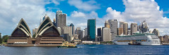 Sydney has such iconic landmarks (Donald Morrison) Tags: sydneyoperahouse exploreroftheseas royalcaribbean cruise cruiseship sydney sydneyharbour australia harbour sea boat ship