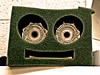 Spongeknob Square Head (Eyellgeteven) Tags: sponge eyes anthropomorphic kludge weird wtf funny humorous humor facetious unusual bizarre face pareidolia countenance smile smiling eyellgeteven