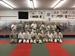 Training at the Shihan David Pickthall's dojo in Crawley UK