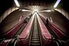 Prague Metro (Reckless Times) Tags: tube metro mesto praha prague red underground escalator perspective cool nikon d750 beating street explore travel tourism tourist vanishing point