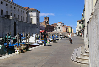 A beautiful ride on a bike around Chioggia