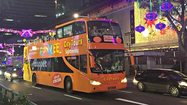 煌めき!シンガポールの夜景と2階建てオープンバス観光(シンガポール発のオプショナルツアー)