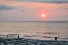 silent whisper (dorameulman) Tags: sunrise dawn ocean sea seascape beach people silhouette waves silentwhisper haiku canon7dmark11 sky