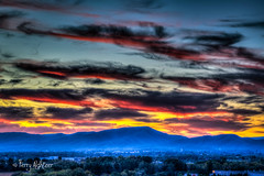 Sunset Sky Stripes Roanoke (Terry Aldhizer) Tags: sunset stripes sky twilight roanoke virginia blue ridge mountains autumn fall evening valley terry aldhizer clouds wwwterryaldhizercom