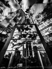 German Bank Tower Frankfurt (MAICN) Tags: glass architektur building himmel mono gebäude clouds glas frankfurt skyscraper blackwhite monochrome sw bw schwarzweis spiegelung sky vhs einfarbig hochhäuser wolken 2017