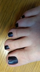 ManGlaze - Cabron (OkieToes) Tags: male guy men man masculine nail nails toes toenail toenails toe foot feet pedicure pedi sandal sandals polish lacquer gloss finish shine glossy fun daring salon purple darkpurple deeppurple mica sparkly matte manglaze cabron