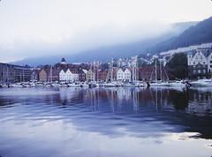 Bergen (xbacksteinx) Tags: bronica rf645 zenzanonrf65mm 65mm 120 medium format rangefinder analog expired slidefilm kodak e6 ektachrome100plus film july midsommar bergen norway scandinavia early morning mood moody