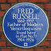 FRED RUSSELL 1862-1957 Father of Modern Ventriloquism lived here in flat No.71 1914-1926