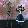 Uma Uma Dance with Death (Sasha's Lab) Tags: death skeleton kuroneko 黒猫 ruri gokou 五更瑠璃 black cat figma girl teen action figure toy oreimo backdrop background goth gothic lolita loligoth fashion dress ears umauma potopan dance caramelldance caramelldansen jfigure revoltech goodsmilecompany