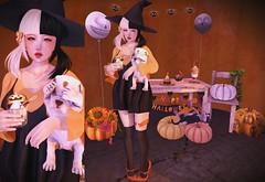 【pumpkin patch】 (Sooyun Ichtama) Tags: secondlife sl ootd halloween blackbantam poche imeka halfdeer vespertine cestlavie arise bcc ayashi friday izzies omen kawaiiproject shoetopia gacha