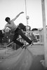 Skatepark Govi (Federico Pitto) Tags: bw genova nikkor50mm14 nikonfe2 ilfordpan100 rodinal