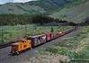 Work Train on Tennessee Pass (jamesbelmont) Tags: railway tennesseepass colorado pando worktrain caboose boxcar gondola emd gp30 3016 riogrande drgw