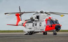 ZZ103 Norwegian Coast Guard AW101 Mk612 @ Cornwall Airport Newquay, St Mawgan. (Sw Aviation) Tags: zz103 norwegian coast guard aw101 mk612 cornwall airport newquay st mawgan helicopter aviation avgeek flying flight airplane chopper plane