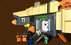 BSL Marcus Garvey: Airlock (Keith Goldman) Tags: ship shiptemberv space lego marcusgarvey ghana blackstarline goat