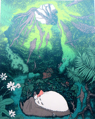 'The Secret Place' (edenpictures) Tags: miyazakiartshow hayaomiyazaki spokenyc spokeart artgallery galleryshow exhibit anime animation myneighbortotoro totoro