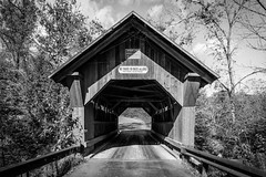 Emily's Bridge II (Nicholas Erwin) Tags: coveredbridge bridge emilysbridge road structure haunted creepy halloween spiderweb contrast blackandwhite monochrome bw nikon d610 nikkor 2018g stowe vermont vt unitedstatesofamerica usa america fav10 fav25 fav50