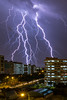 Lightning in the neighbourhood (BP Chua) Tags: hougang singapore asia thunder lightning storm electric cloudy weather thunderstorm house blocks units building urban landscape night canon 7d2