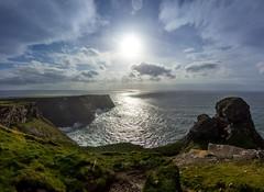 Cliffs of Moher Panorama (AbbasiAli) Tags: ireland dublin cliffs cliffsofmoher blackwhite bw canon westireland tokina rain autumn fall weather roadtrip travel seagulls sea coast alantic ocean wildatlanticway clare county