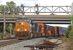 Q151 (GLC 392) Tags: plymouth mi michigan co pm search light signal signals ge es44ah gevo 3111 ac44cw 5119 102 q151 stack train railroad railway