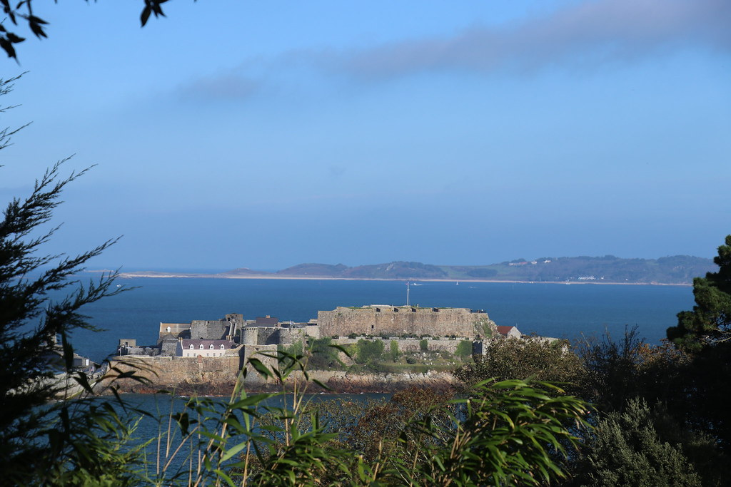 Castle Cornet from Hotel De Havelet, Guernsey.