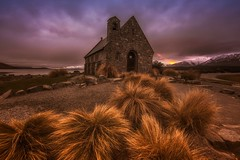 For Anyone Who's Prayed A Thousand Prayers (Anna Kwa) Tags: thechurchofthegoodshepherd stonechurch laketekapo mckenziebasin lakeshore sunrise dawn tussock southernalps southisland newzealand annakwa nikon d750 afszoomnikko1424mmf28g my prayers foryou always peace fire seeing heart soul throughmylens bewell strength omm light destiny fate journey