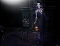 Tempest (Pau*Rubi Dexler*) Tags: sl secondlife jumo jewel gown halloween dark lady girl blog night swank