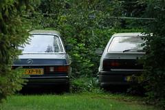1978 Mercedes-Benz 230 + 1994 Renault 19 RL 1.4E (Dirk A.) Tags: sidecode5 onk 97xp98 jnxv01 1978 mercedesbenz 230 1994 renault 19 rl 14e sidecode3