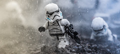 Pushing forward. (Lego_LUTs) Tags: purple yellow green blue storm trooper star wars war lego outdoors clone troopers first order blasters afol minifigs minifigures bricks blocks canon toy toys force legos t3i republic people photoadd atst death rogue one dirt practical effects orange 60mm