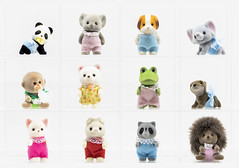 All the small things -- sylvanian babies (Gnome Girl!) Tags: sylvanian calicocritters toy animalcute flocked fluffy koala panda bear monkey dog raccoon hedgehog elephant polarbear piglet puppyfrog beagle