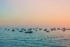 Harmony  / Explored / (gabi_halla) Tags: sea seaside water summer sky sunset peace peaceful boats boat horizon outdoor landscape italy travel traveling blue pink nature sunlight sunshine