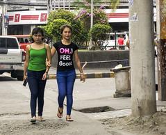 Feeling Good (Beegee49) Tags: street walking feeling good filipina woman bacolod city philippines