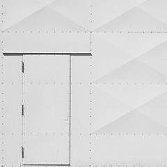 Minimal Square - White Door (Visual Stripes) Tags: minimal square composition door white lines wall