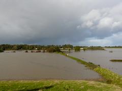 the day after windstorm Xavier (achatphoenix) Tags: orkan windstorm xavier orkanxavier ouragan riverems eastfrisia ems eau emsbrücke leerostfriesland leer water wasser waterscape