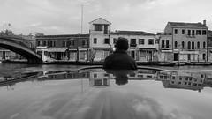 THE BOAT RIDE (LitterART) Tags: venedig venice venezia murano insel island riva boat boot motorboot motorboat boattrip ride boatride berengo glasstress berengostudio fondacioneberengo glass film nikon video sw bw blackandwhite monochrome meer mare sea lagune