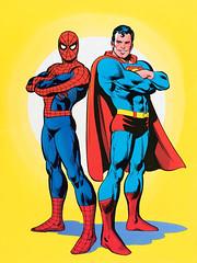 Superman vs. The Amazing Spider-Man (1976) pin-up by Ross Andru (Tom Simpson) Tags: rossandru dickgiordano comics superman spiderman vintage art illustration 1976 1970s comicbook comicbookart marvelcomics dccomics marvel dc