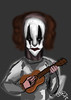 [Not insane] but not as [normal] as the rest (Ocin Ceco) Tags: inktober2017 clown circus ukulele inktobe2017